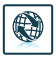 Icon of Globe with arrows vector image