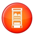 Products in the supermarket refrigerator icon vector image