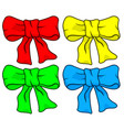 bow knot set vector image