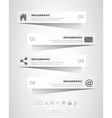 Papercut infographic vector image