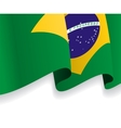 Background with waving Brazilian Flag vector image