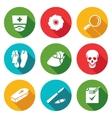 Pathologist and morgue Icons Set vector image