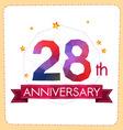 colorful polygonal anniversary logo 2 028 vector image vector image