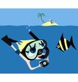 underwater adventures vector image vector image