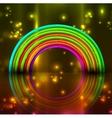 shiny rainbow background vector image vector image