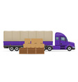 semi truck trailer concept 02 vector image vector image