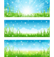 set of summer abstract background vector image