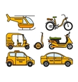 Taxi thin line icons vector image vector image