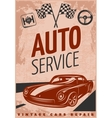 Car Repair Poster vector image vector image