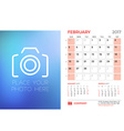 Abstract Calendar Background vector image