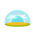 blue sky with rainbow isolated icon vector image