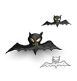 Halloween monsters spooky vampire bats isolated vector image