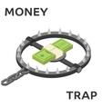 Money trap flat vector image