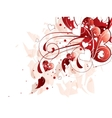 Red love hearts background vector image