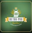 Retro Design Element Badge Logotype Label for Beer vector image