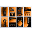 Set of Brochure Flyers and layout templates for vector image