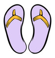 slippers icon icon cartoon vector image