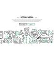 Social Media - line design website banner temlate vector image
