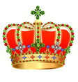 royal gold crown with jewels vector image