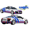 portugal police car vector image vector image