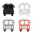 fire truck icon cartoon single silhouette fire vector image