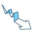 arrow business statistics vector image