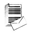 envelope document paper files office supplies vector image