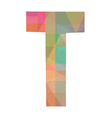 T alphabet vector image