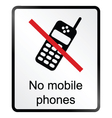 No Mobile Phones Information Sign vector image