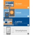 Electronic devices flat design banners vector image vector image