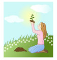 time to plant vector image vector image