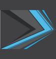 abstract blue gray arrow speed design vector image