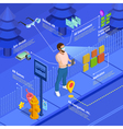 Augmented Reality Navigation Game Isometric Poster vector image