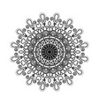 black silhouette flower mandala vintage decorative vector image