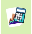 Calculator and Chart Isolated Design Flat vector image