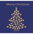Christmas tree ball card background vector image