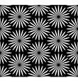 Flower black and white pattern vector image