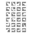 icon mammals vector image
