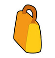 isolated shopping bag vector image