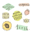 Set of hand drawn cute labels vector image