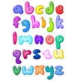 3d bubble lower case alphabet vector image