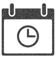 Time Calendar Day Grainy Texture Icon vector image