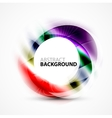Colorful abstract circle banner vector image