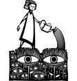 Garden of Eyes vector image vector image