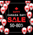 happy canada day background vector image