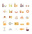 Large set of food and beverage icons vector image