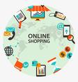 Online shopping emblem vector image