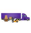 semi truck trailer concept 03 vector image vector image