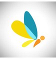 Abstract Beautiful colorful shape butterfly vector image