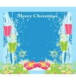 Abstract Christmas card star gifts snow vector image
